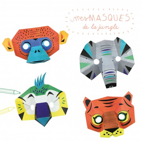 paper workshop jungle masks