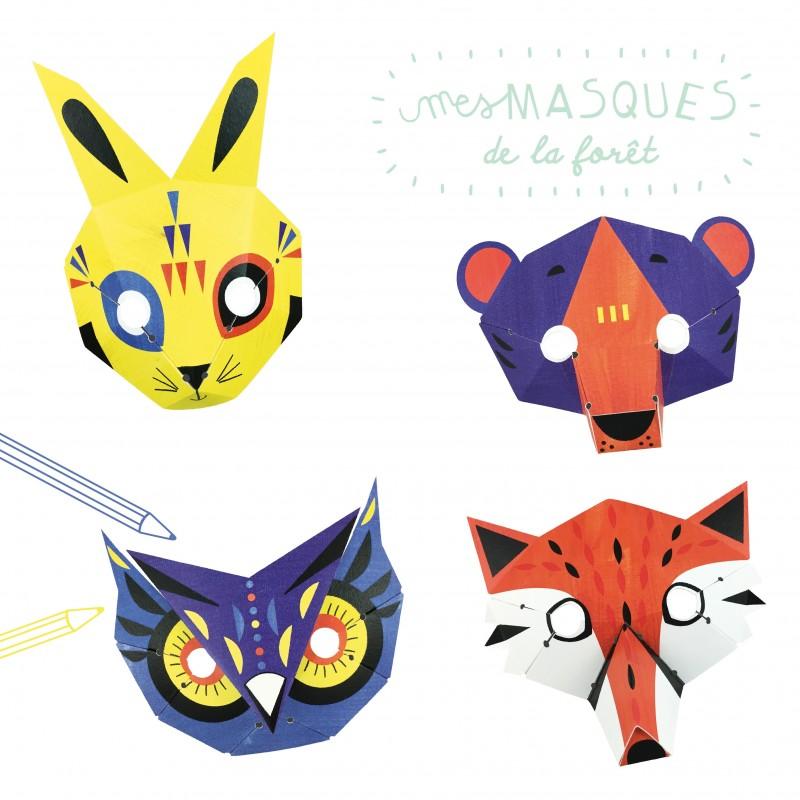 paper workshop forest masks