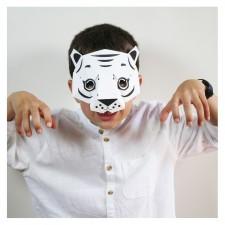 coloriage masque tigre