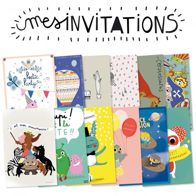 cartes d'invitation à écrire