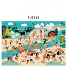 puzzle homme préhistorique