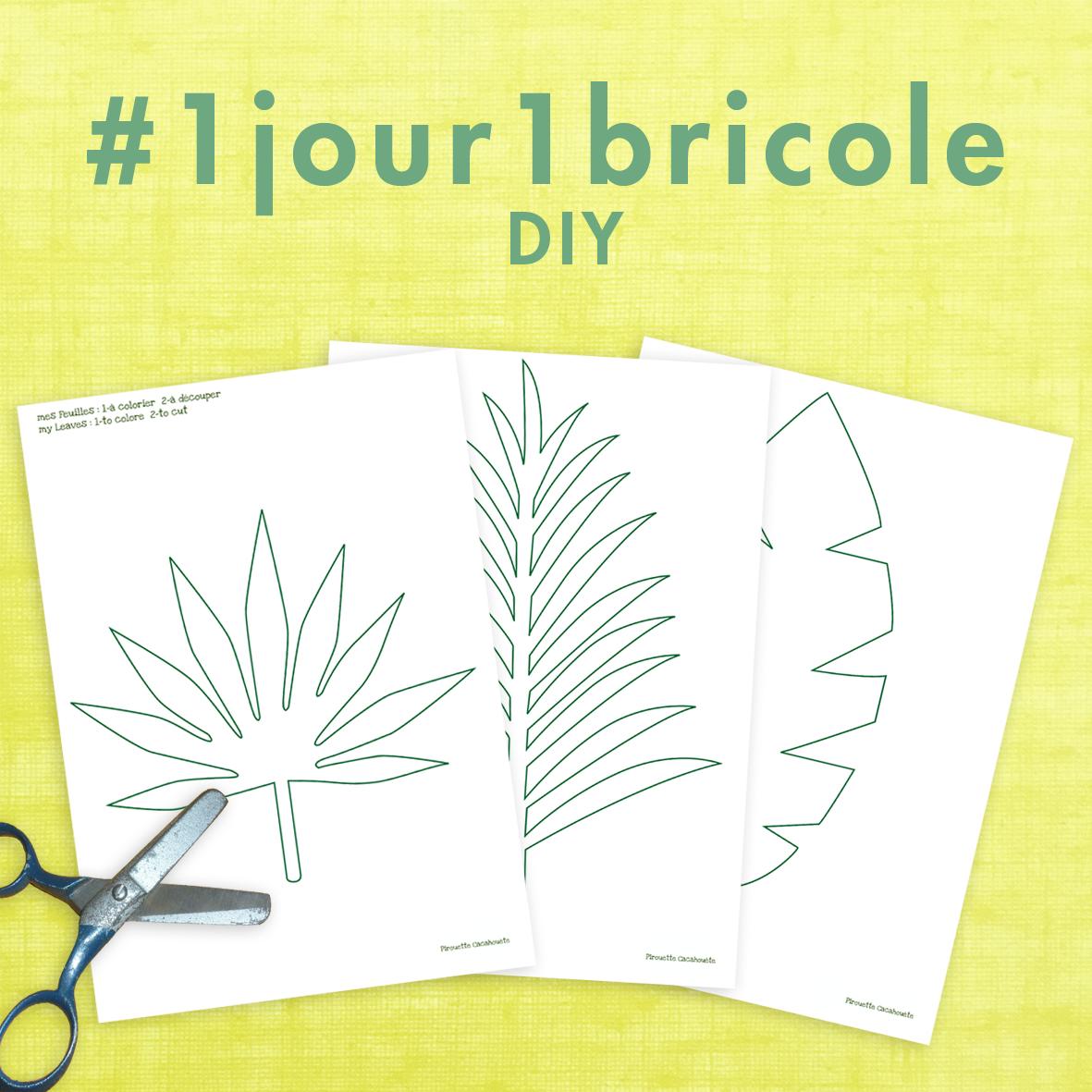 1jour1bricole J21-DIY feuillages