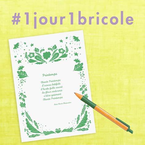 1jour1bricole J4-Poème